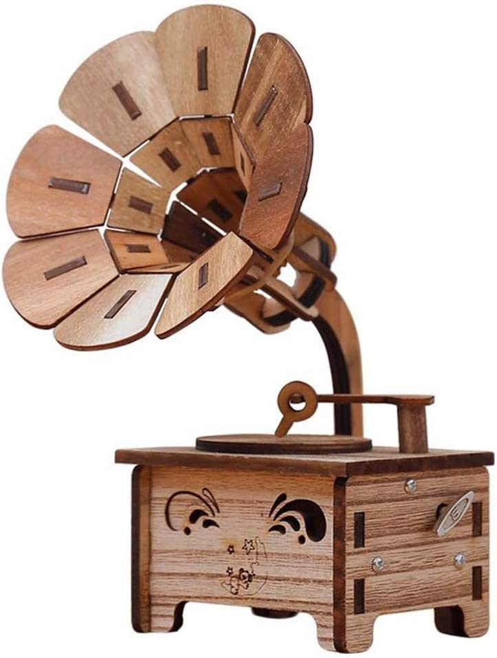 Large special price !! Musical Boxes Figurines Limited Special Price Gramophone Shaped Box Classic Vi Music