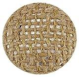 Decorativo ronda marrón y oro yute tela botones forrados de