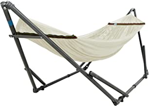 Tranquillo V4DY Adjustable Foldable Polyester Net and Carry Bag Hammock Stands, Double, White