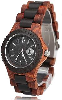 Ace Seller Exquisite Sandalwood Man Wrist Watch Quartz Movement Clasp Watchband