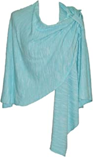 Parkhurst Women's Crossover Wrap with Loop Turquoise One Size