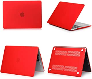 2019 Laptop Case for Apple MacBook Air Pro Retina 11 12 13 15 inch for 13.3 A1989 mac Book Pro with Touch Bar Keyboard Cover,Matte Red,Model A1706 A1989