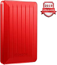Portable External Hard Drive 80GB - Maxone Upgrade Portable HDD USB 3.0 for PC, Laptop, Mac, Chromebook, Smart TV - Red