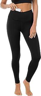 TYUIO Yoga Leggings Women High Waist Running Workout Pants Yoga Capris Pocket