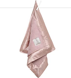 """Little Giraffe Luxe Solid Blanky – Baby Blanket, 14"""" x 14"""", Dusty Pink"""