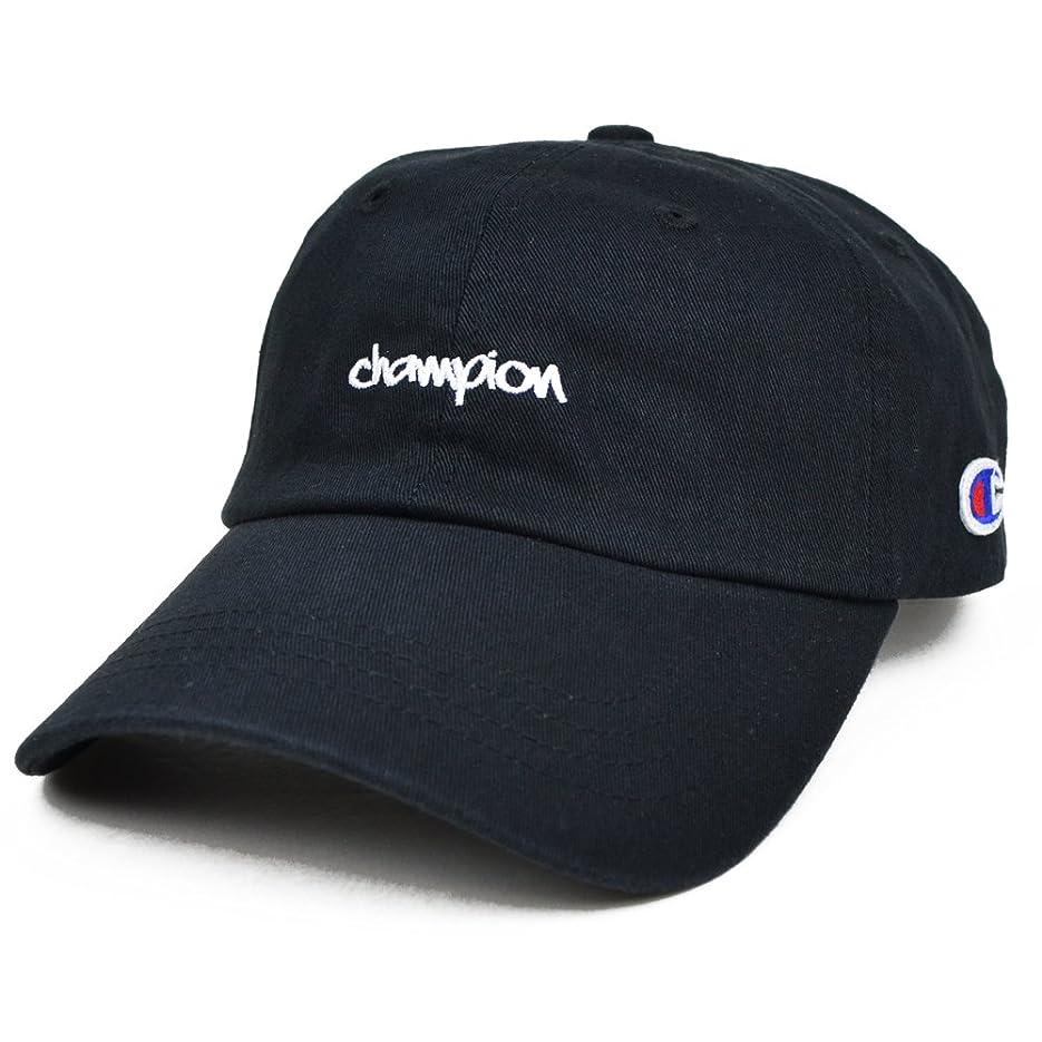 呪われた耕す補助(チャンピオン) CHAMPION 6-PANEL STRAPBACK CAP キャップ ONESIZE Black
