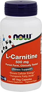 Now Foods L-carnitine, 500 Mg, 60 Vcaps