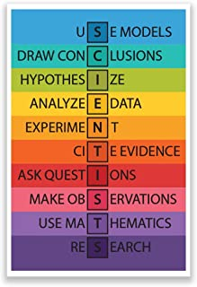 DHDM Designs Classroom Poster Scientists Anagram Print for Classrooms | 12-Inch by 18-Inch | Science Class Posters JSC821