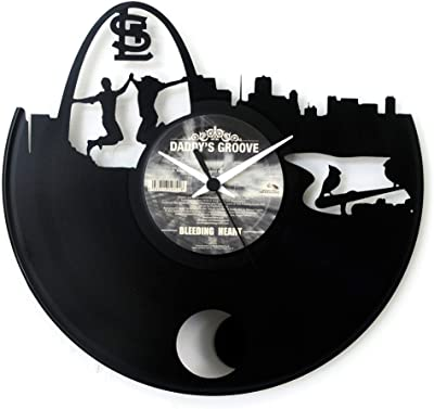 Saint Louis Clock Gift Wall clock Vinyl clock with pendulum Black color Vinyluse original Made in
