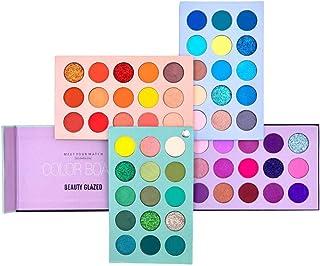 60 Colors Eyeshadow Palette, 4 in1 Color Board Makeup