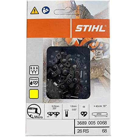 """Chainsaw Chain For 18/"""" Stihl Ms 250 251 251 .325 .063 68 Wood Boss 7444068"""