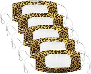 Wtouhe 5pc Transpirables Antipolvo Faciales visera 3D Reutilizable y Lavable Protector Faciales al aire libre con Bandas E...