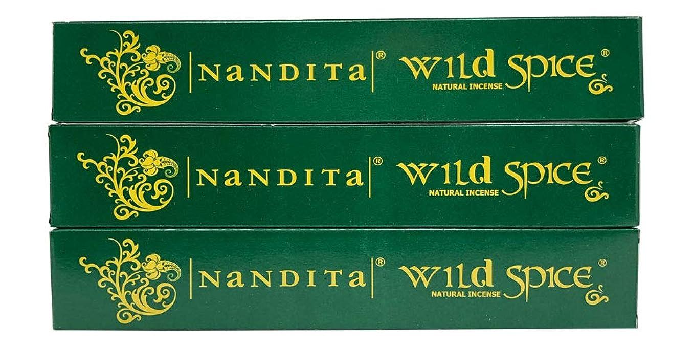 軽減ファーム支払うNandita Wild Spice プレミアムナチュラルマサラ香スティック 3本パック (各15グラム)