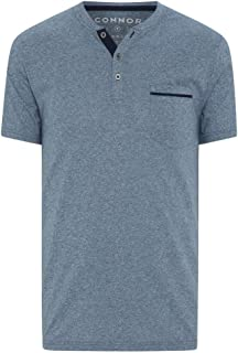 Connor Men's Halley Henley Tee Regular T-Shirts Casual Tops Sizes XS-3XL Affordable Quality with Great Value