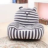 MAXYOYO Super Cute Grey Striped Bear Stuffed Plush Toy Bean Bag Chair, Cute Rabbit Plush...