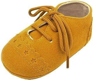 comprar comparacion Primeros Pasos Zapatos De Bebé, niño niña Zapatillas de bebé Antideslizante de Encaje hasta Zapatos 0-18 Mes
