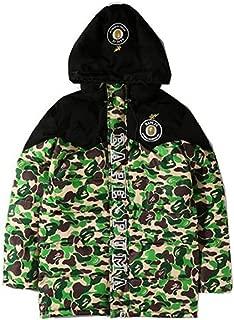 AGNELGGH Bape Fashion Hoodie Camo Down Jacket for Men/Women