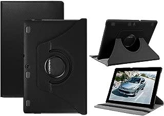 Lenovo Tab2 A10-30 Case,Lenovo Tab 3 10 inch Case,Premium PU Leather 360 Degree Rotating Stand Cover for Lenovo Tab 2 A10-30 / A10-70 / Tab3 10 Plus / Tab3 10 (Black)