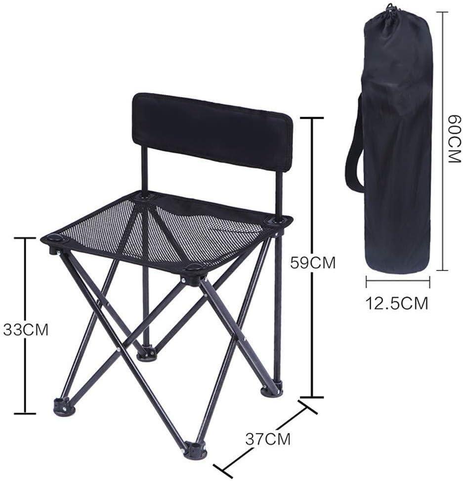 QYZHCP Chaise, Chaise De Camping Portable, Sac À Dos Léger Et Compact Et Chaise Confortable Avec Sac Fourre-tout, Capacité De 130 Kg (Color : A) B