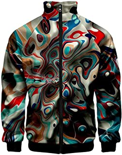Men's 3D Graffiti Sports Jacket Active Fitness Plus Size Long Sleeve Outwear