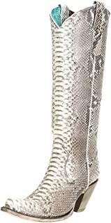 CORRAL Women's Python Tall Western Boot Snip Toe