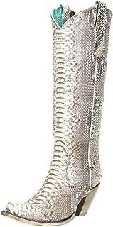 CORRAL Women's Python Tall Western Boot Snip Toe Python 7.5 M