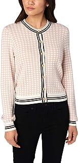 Juicy Couture Black Label Womens Diamond Jacquard Cardigan Sweater
