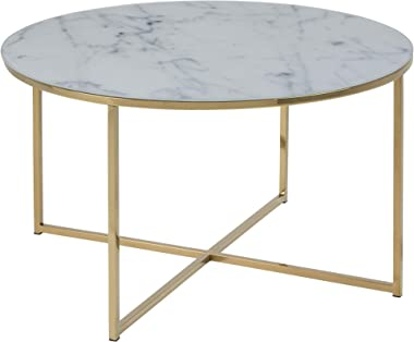 AC Design Furniture 57547 Tavolino Alisma, Bianco L / W / H Ca. 80/80/45 cm