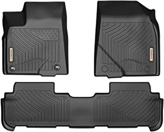 YITAMOTOR Floor Mats for Highlander, Custom fit Floor Liners for 2014-2019 Toyota Highlander, 1st & 2nd Row All Weather Protection