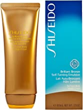 Shiseido Brilliant Bronze Self-tanning Emulsion (for Face and Body) Tanner for Unisex, 3.5 Ounce