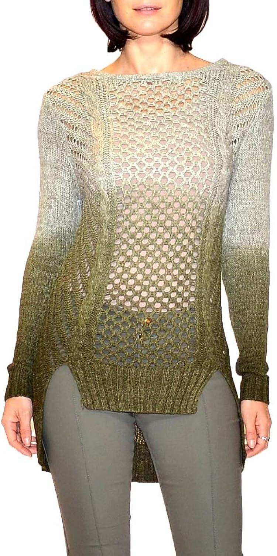 B&K Moda Women's Ombre Open Knit Sweater
