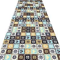 廊下の敷物のための長いランナーの敷物、台所ベッドルームの廊下のポーチのバスルーム、複数のサイズのためのビンテージの部族の投げ敷物のための長いラグ (Color : A, Size : 60x120cm)
