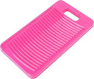 Yardwe Plastic Mini Washboard Washing Board Clothes Board Laundry Washboard for Home (Random Color)
