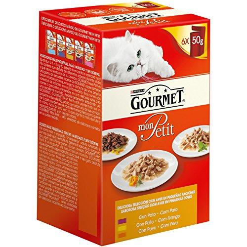 Gourmet - Mon Petite Selección de Aves Paquete de 6 x 50 g - Total: 300 g