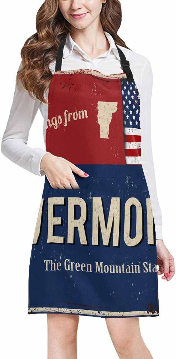 INTERESTPRINT Greetings from Utah Rusty Metal Sign with American Flag Drawstring Backpack