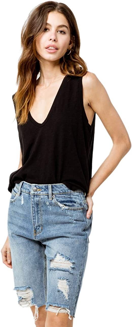 At the price RVCA Women's Genuine Off Road Rise Short Denim High