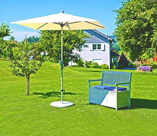 Suncomfort by Glatz Parasol Push Up 250 x 200 cm, mât central écru, ameublement pour jardin extérieur