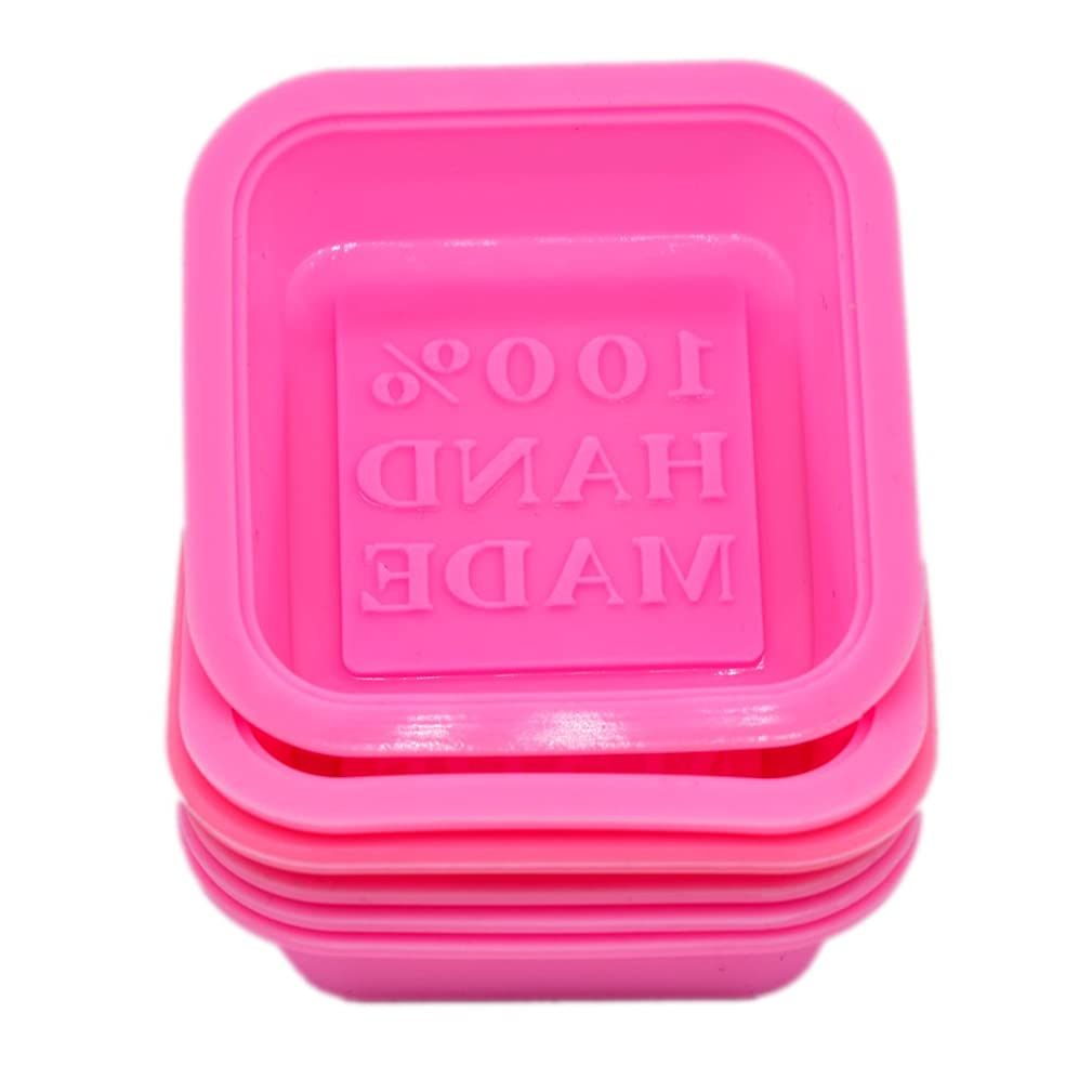 soap mold (Squa (6-Pack) Soap Molds-100% Handmade Square Silicon