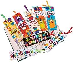 48 ~ Laminated Birthday Bookmarks ~ New