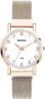 Dyshuai Women's Quartz Easy Reader Magnetic Watch Wrist Watch for Women