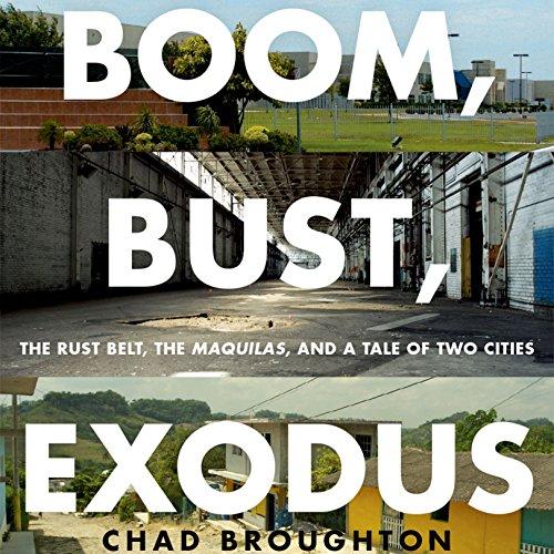 Boom, Bust, Exodus audiobook cover art