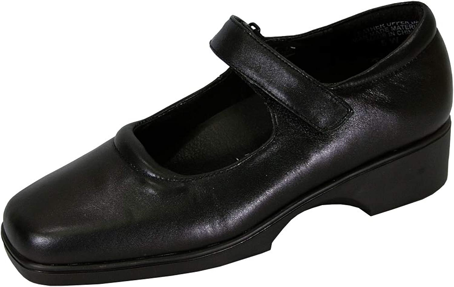 24 Hour Comfort Uma Women Wide Width Leather Mary Jane Style shoes