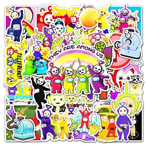 XIAMU Antena de Dibujos Animados Baby Graffiti Sticker Laptop Mobile Car Scooter Guitarra Decoración Sticker 50 Uds