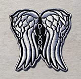 Daryl Dixon Angel Wings Patch Walking Dead Inspired Applique Clothing Accessory Embroidered Sew Iron On Badge Patches