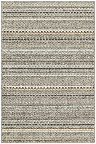 Garland Rug Carnival Stripe 7 ft. x 12 ft. Large Area Rug Random EarthTone