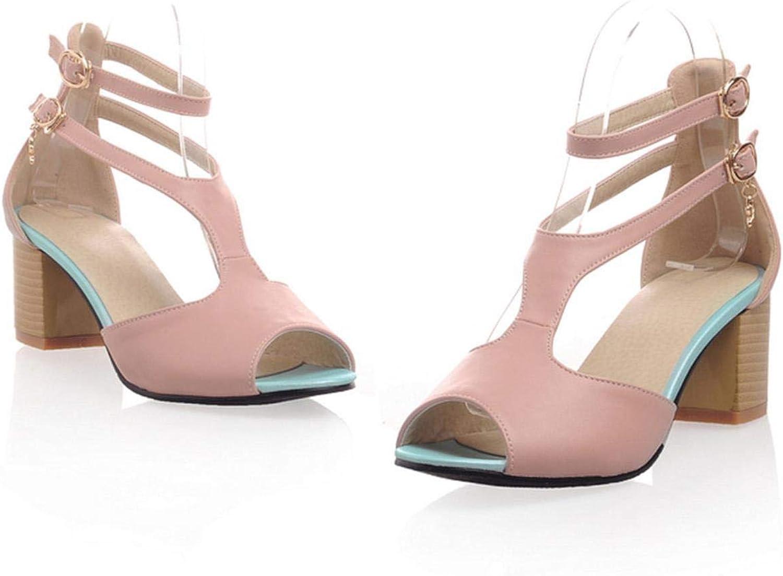 Women Sandals Sweet Elegant Peep Toe Solid High Heels