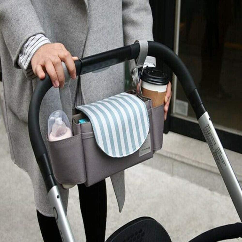 Baby Storage Bottle Holder Buggy Pram Pushchair Organiser Stroller Cup Mummy Bag