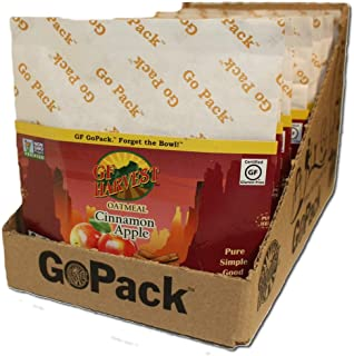 GF Harvest Gluten Free GoPack Single Serve Oatmeal Pack, Cinnamon Apple, 10 Count