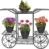 Sorbus Garden Cart Stand & Flower Pot Plant Holder Display Rack, 6 Tiers,...