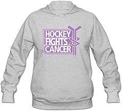 JUST Women's Logo Hockey Fights Cancer Hoodie